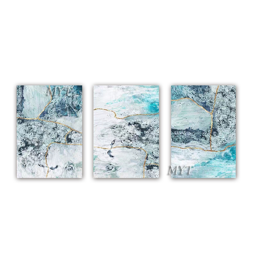 New Abstract High Quality 3 Panels Canvas Oil Painting Hand Painted Wall Decor Art Pieces Paintings Artwork For Living Room