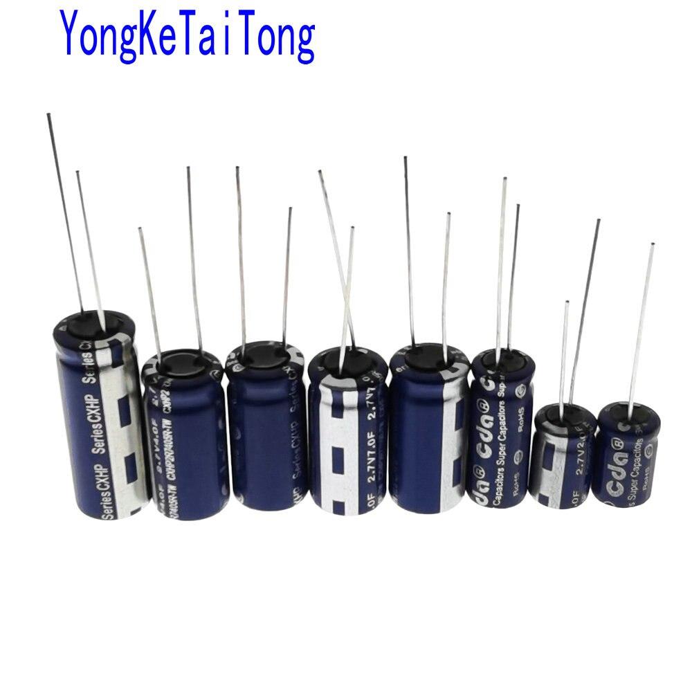 10PCS 2.7V-10F Farad Capacitor Electrical Component Low ESR Super Capacitor