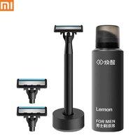 Xiaomi youpin-afeitadora Manual para hombres y mujeres, afeitadora de barba húmeda, cómoda, cuchilla afilada alemana para el hogar inteligente xiaomi
