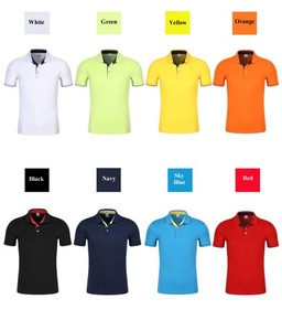 Image 2 - Unisex Polo Sport shirt male lively cotton breathable personal logo Shirts customized Couple leisure extra large dropship