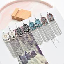 2020 New Afghan Long Tassel Earrings for Women Boho Big Drop Earrings Femme Statement Fashion Indian Tribal Jewelry Brincos(China)