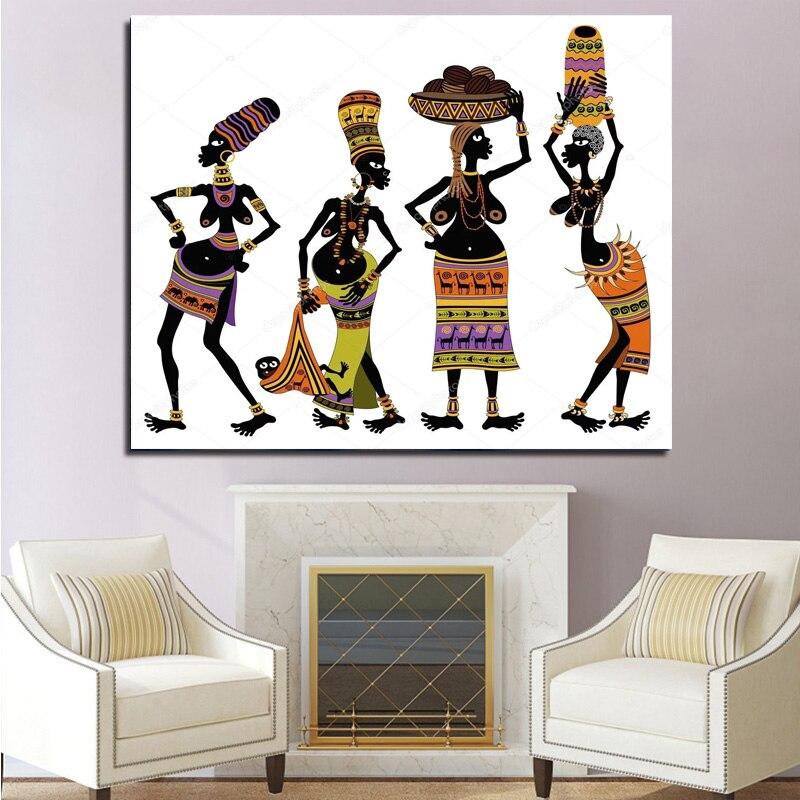 Pintura diamante mulher Africano, ponto-Cruz do Retrato da parede Da Decoração Da Arte do Mosaico diamant bordado venda Abstrato retrato 2019 New hot