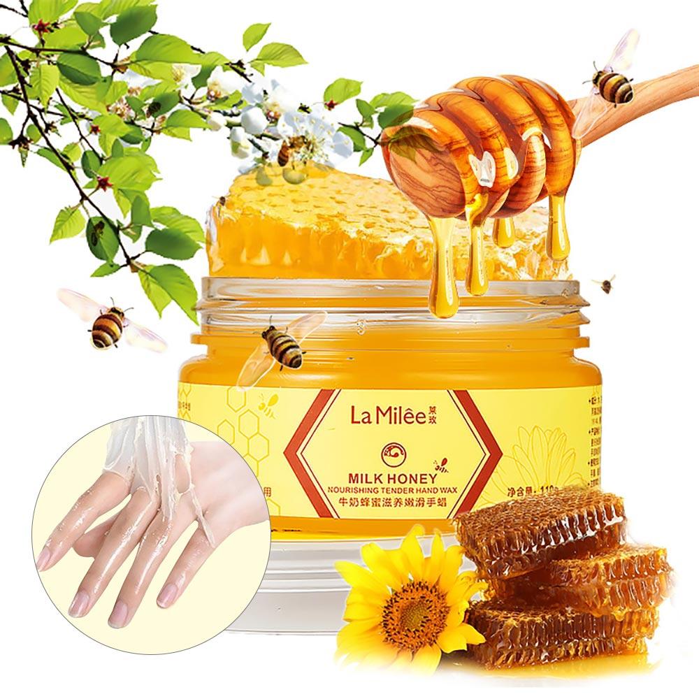 110g Milk Honey Hand Mask Exfoliating Calluses Hand Film Hands Care Cream Moisturizing Whitening Skin Care Hand Wax