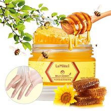 110g Milk Honey Hand Mask Exfoliating Calluses Hand Film