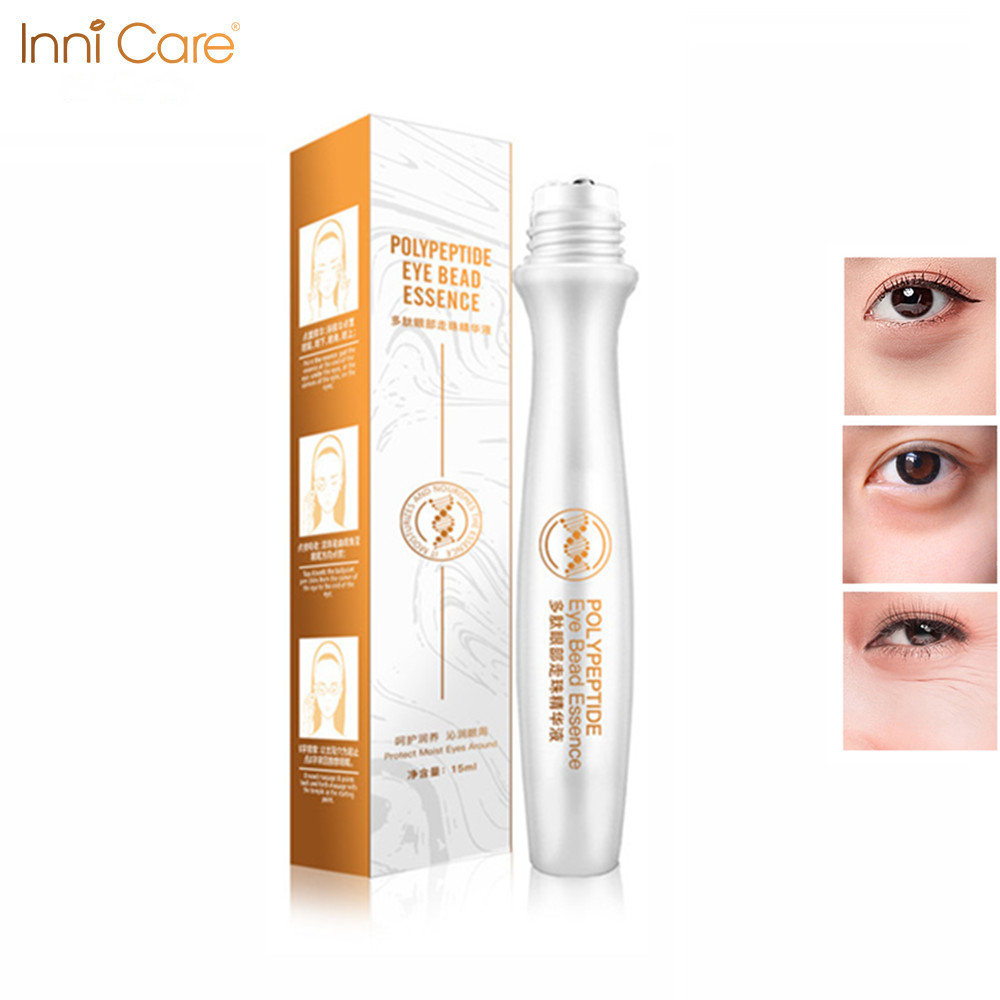 InniCare Eyes Serum Collagen Essence Rolling Eye Cream Anti Aging Wrinkle Creams Anti Dark Circle Rugas Moisturiz Eyes Care(China)