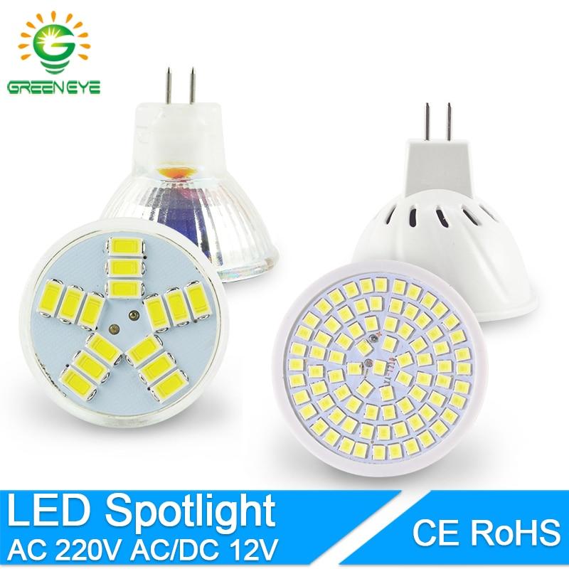 MR16 LED Spotlight MR11 LED Lamp AC 12V 220V 6W 8W SMD 2835 Bulb LED Lampada Spot Light Decoration Ampoule Warm White Cold White