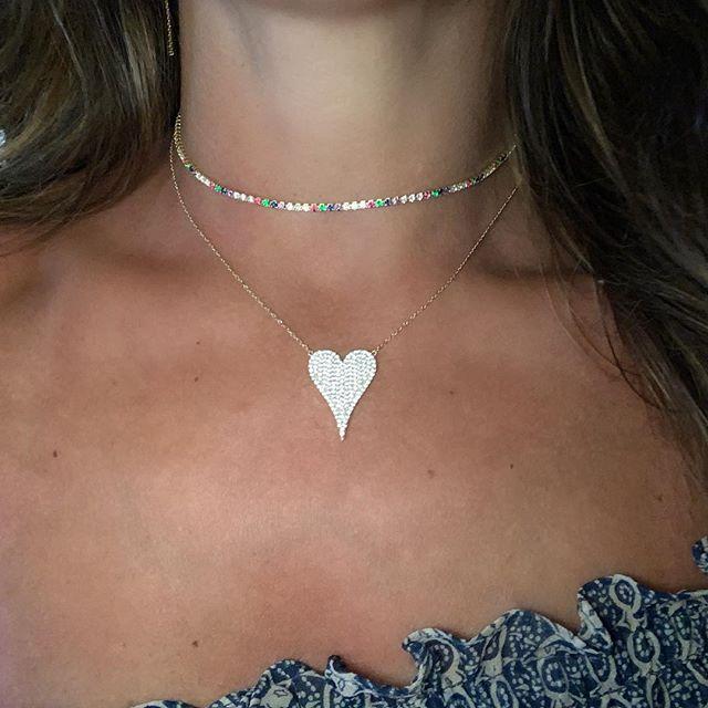100% 925 sterling silber micro pave cz herz halskette shiny zirkonia valentines geschenke für liebhaber eleganz romantische Schmuck