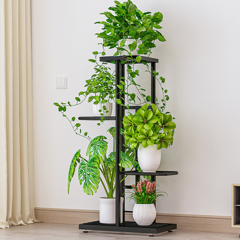 4-ярусный выставочный стенд 5 горшечные растения Стенд нескольких цветочный горшок держатель полки ящик для комнатных растений, стеллаж для...