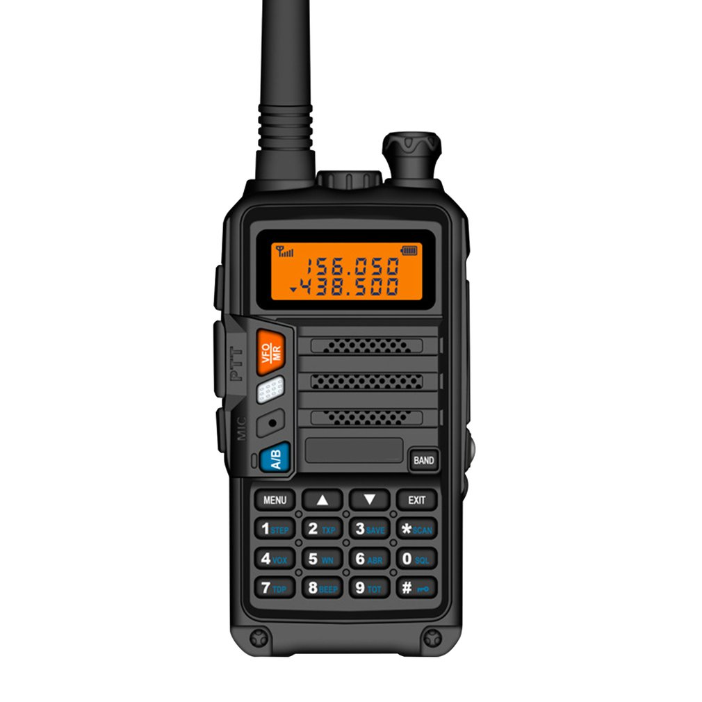 2019 BaoFeng UV-S9 High Power 8Watts Portable Walkie Talkie 10km Long Range CB Radio Transceiver For Hunt Forest City Upgrade 5R