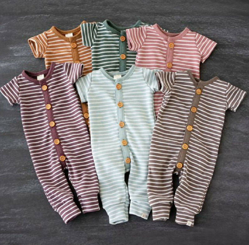 Pumpkin Scarecrow Fashion Newborn Baby Short Sleeve Bodysuit Romper Infant Summer Clothing