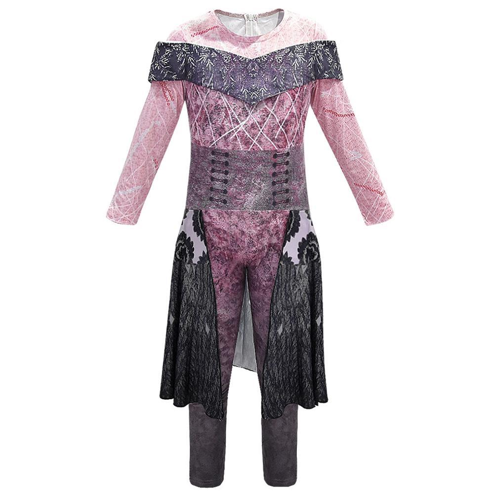 Children Girls Descendants 3 Cosplay Costumes Dress Kids Halloween Costumes Fancy Ball Dress Jumpsuit