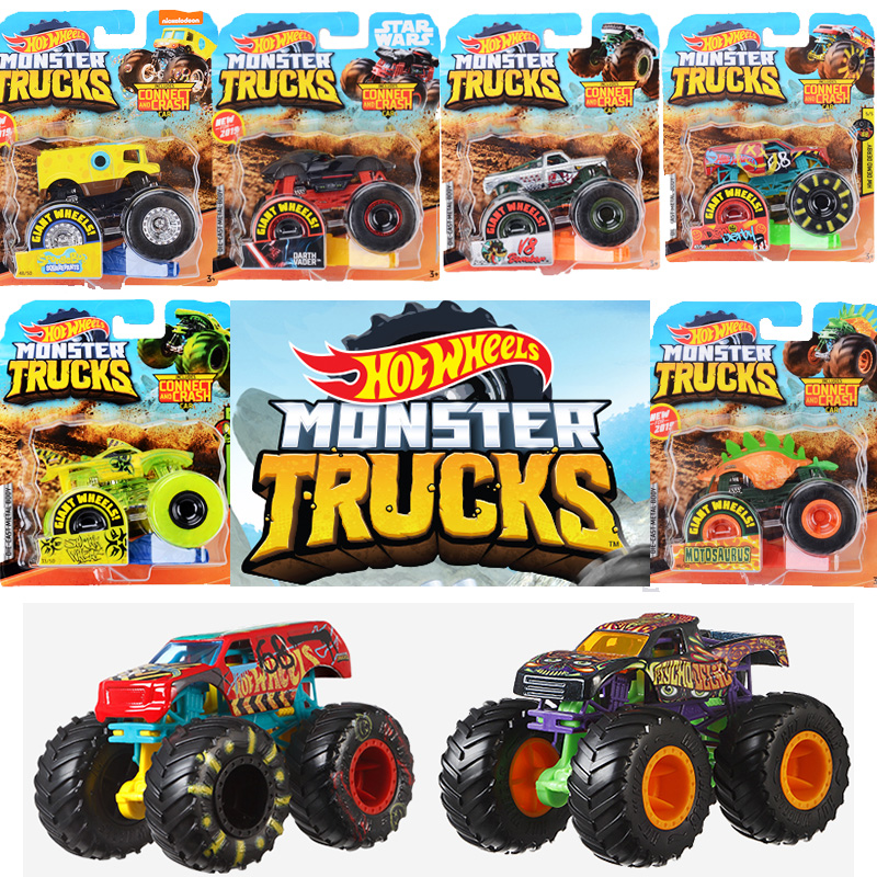 Hot Wheels Tracks Diecast 1:64 Car Toys Collection  Monster Trucks Assortment Metal Model Boys Toys For Children Kids Gifts