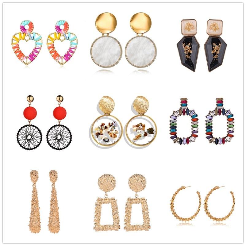 Korean Leopard Big Heart Earrings For Women 2018 Fashion Jewelry Full