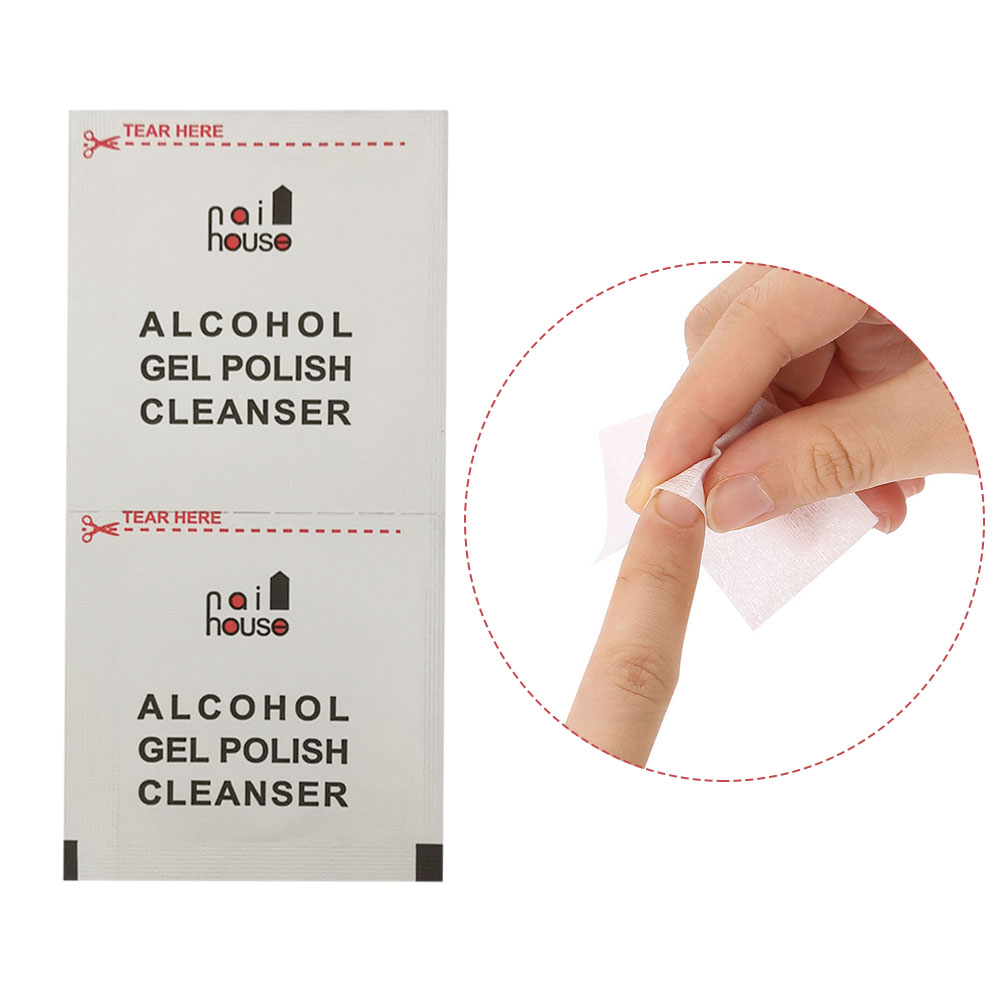 Individual Package Nail Polish Remover Cotton Wipes UV Gel Remover Nail Clean Wipes Nail Art Cleaner Tools