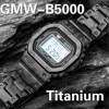 Kamuflaż zestaw stopu tytanu GMW-B5000 dla DW 5600 pasek do zegarka Bezel DW5600 GW5000 DW5035 metalu od zegarków pokrywa narzędzia
