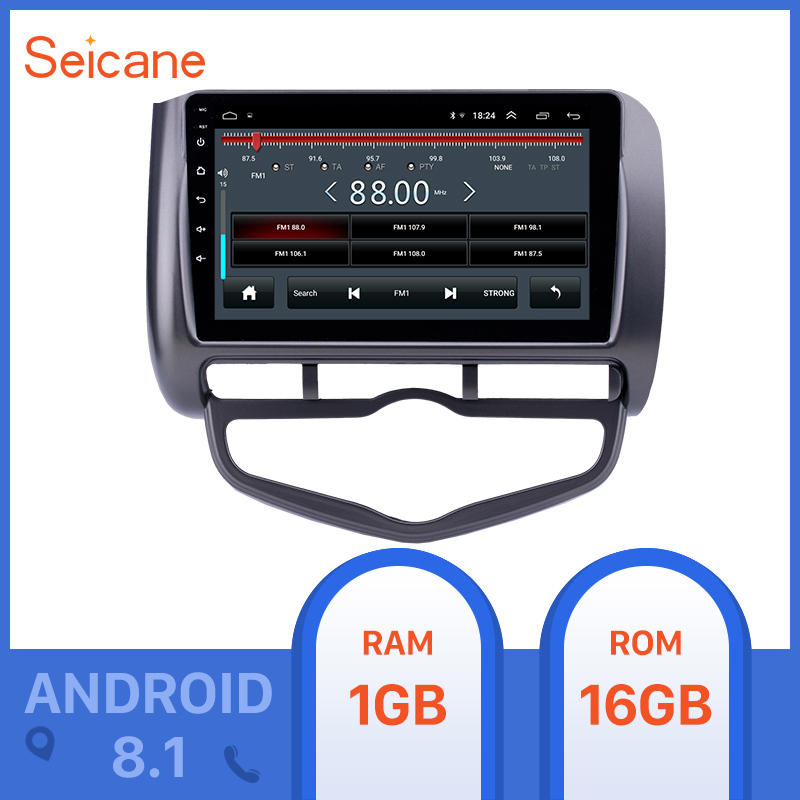 <font><b>Seicane</b></font> 2din Android 8.1 Car Unit Radio for 2006 <font><b>Honda</b></font> Jazz <font><b>City</b></font> Auto AC RHD GPS Navi USB AUX support Carplay OBD Digital TV image