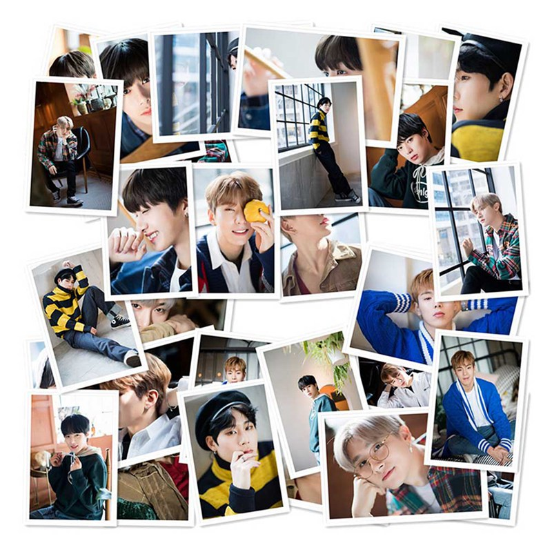 40Pcs/Set MONSTA X Album Self Made Paper Lomo Card Photo Card Poster HD Photocard Fans Gift Collection