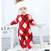 Одежда для маленьких мальчиков вязаный детский комбинезон в