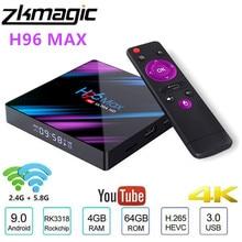 Android 10.0 Tv, pudełko H96 MAX Rockchip 32GB 64GB Android dekoder bluetooth 2.4/5.0G WiFi 4K 3D Smart TV Media Google Player