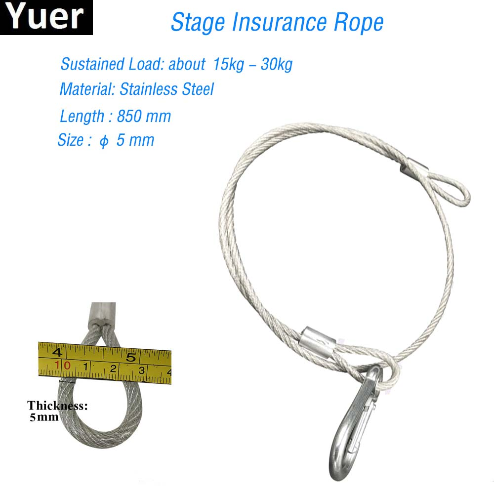 High Quality 85cm Long Stage Light Safety Rope Cable Steel Safe Wire For Disco Dj LED Moving Head Par Light Effect Equipment|Stage Lighting Effect| |  - title=