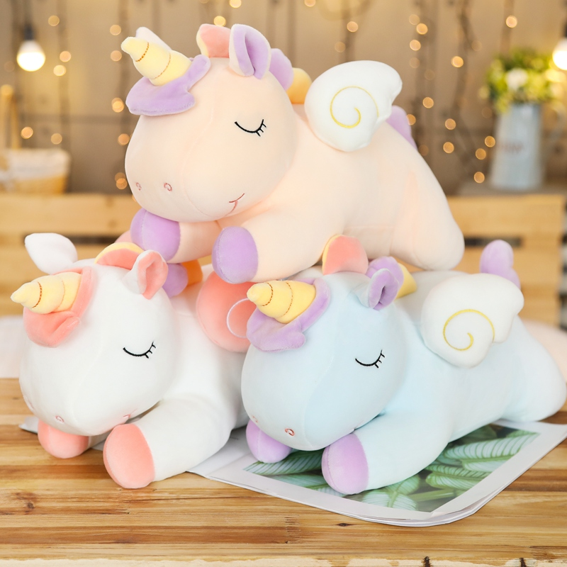 20-100cm Mythical Unicorn Plush Toys Soft Stuffed Cartoon Animal Horse Baby Pillows Pegasus Dolls Gifts for Children Kids