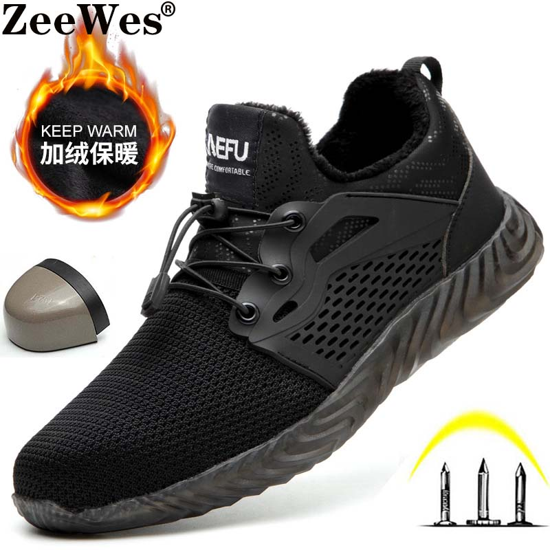 Winter Dropshipping Indestructible Shoes Men And Women Steel Toe Air Safety Boots Puncture-Proof Work Sneakers Breathable Shoes