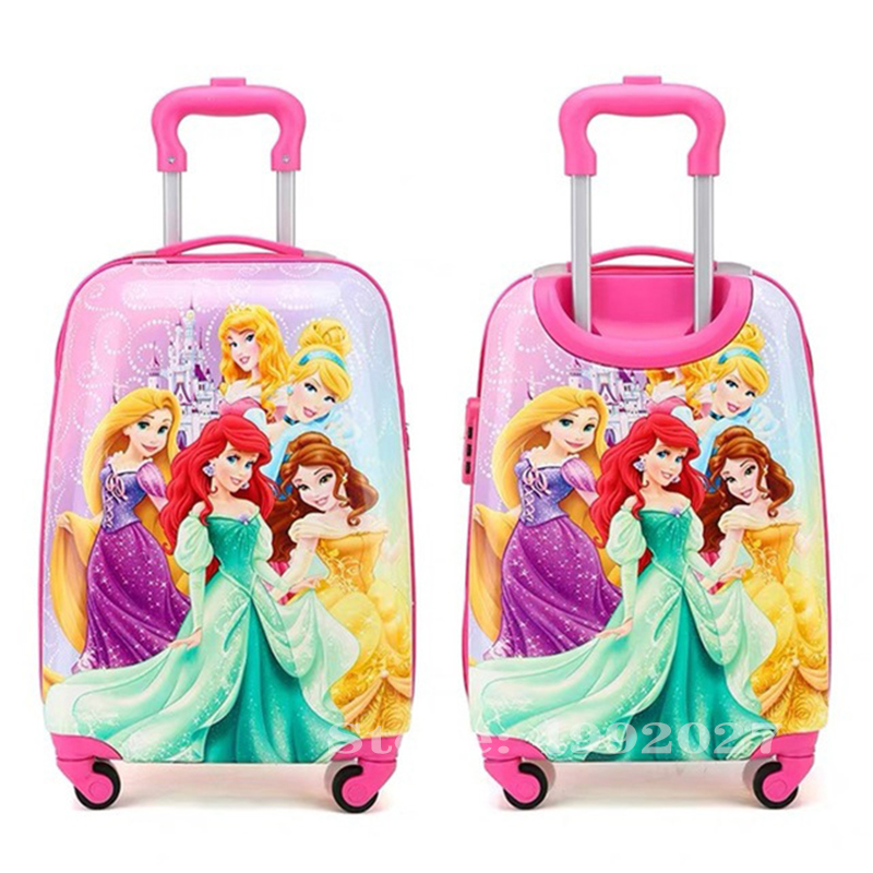 Cartoon Kid's Luggage Scooter Suitcase Lazy Trolley Bag Children Carry On Cabin Travel Rolling Luggage On Wheels Children Gift