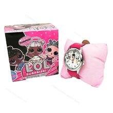 Lol surpresa bonecas dos desenhos animados lol bonecas silicone relógio das crianças cor aleatória relógio de quartzo moda crianças brinquedos para meninas presentes 2s74