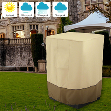 Patio Furniture Cover Outdoor Yard Garden Fire Column Waterproof Oxford Cloth Sun Protection Foldable Drawstring