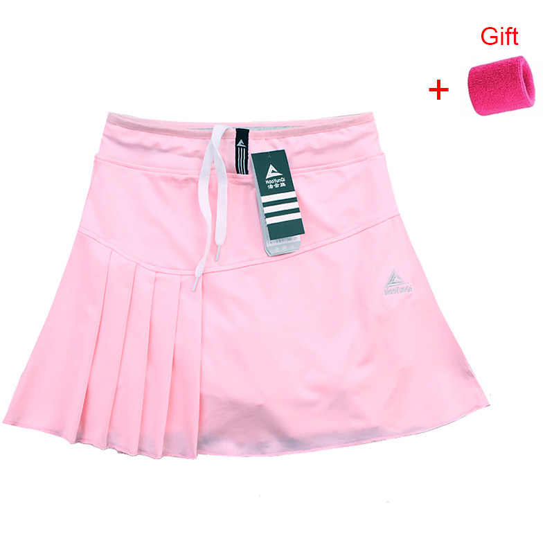 New Tennis Skort Skirts Ladies Running Sports Skirt with Pocket and Safety Shorts Solid Color Badminton Clothing