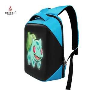 Edison Women Backpack Control-Light Led-Display-Bag Multi-Function Smart-Wifi-Version