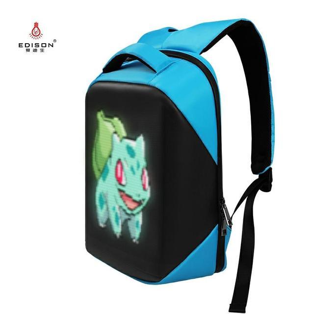 Edison Women Backpack LED Backpack Series Led Display Bag Smart WIFI Version APP Control Light Multi-function Computer Backpacks