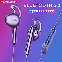 лучшая цена Langsdom E7 Sports Wireless Earphones Half In-ear Stereo Bluetooth Headset Earbuds With Mic fone de ouvido bluetooth for Phone