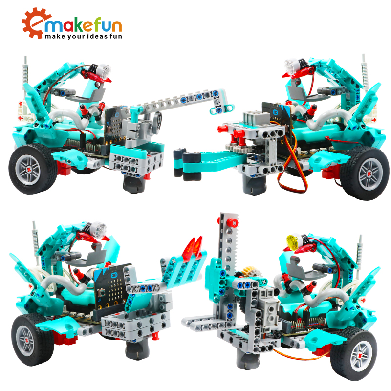 Programmable Robotics Learning Kit Building Block APP RC Car For Microbit For Technic Excavator Educational Toys For Kids Gifts