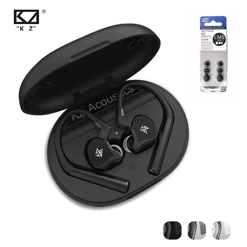 KZ E10 TWS ecouteurs 1DD + 4BA hybride Bluetooth 5.0 sans fil écouteur Sport suppression de bruit basse dans l'oreille écouteur