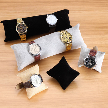 1pcs Fabric Watch Bangle Bracelet Pillow Jewelry Display Stand Velvet Rack for Organizer Storage Holder Wholesale