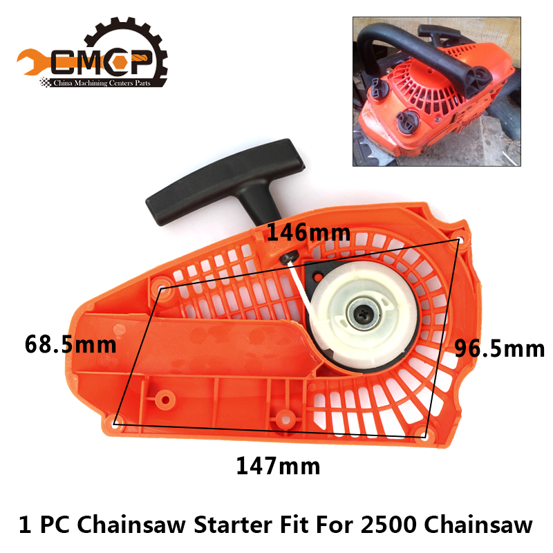 Gasoline Chainsaw Pull Starter Fit 2500 25CC Chainsaw Brush Cutter Parts Chainsaw Spares Parts Garden Tools