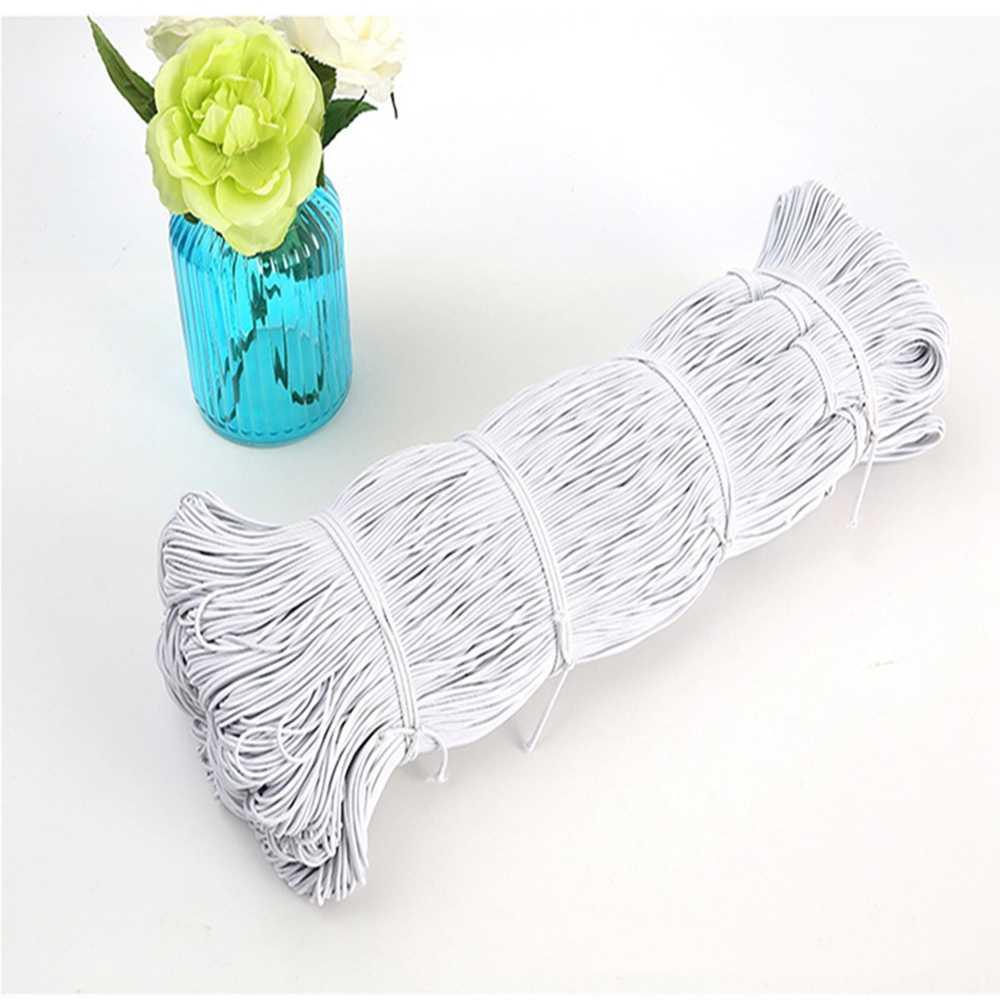 Hohe-Elast 1MM/2MM/3MM Weiß/schwarz dünne runde Elastische Bands Elastische seil hochzeit Bekleidungs elastische band für DIY nähen zubehör