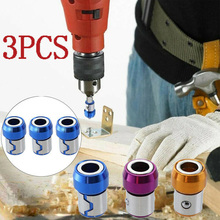 3PCS Universal Removable Magnetizer Ring Magnetic Steel Screwdriver Bit Strong Magnetism Prevents The Screw From Falling Off