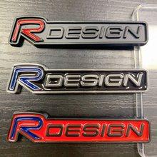 R design Estilo Do Carro Adesivo 3D Emblema Emblema Para Volvo Rdesign XC90 S60 XC60 V70 S80 S40 V50 V40 V60 C30 S70 S90 V90 Acessórios
