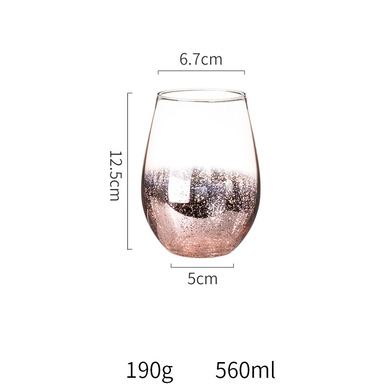 Creative Star Sky Glass Water Cup Household Galvanized Milk Juice Water Beverage Muse Yoghurt Cups Drinking Vessel Goblet Round in Other Glass from Home Garden