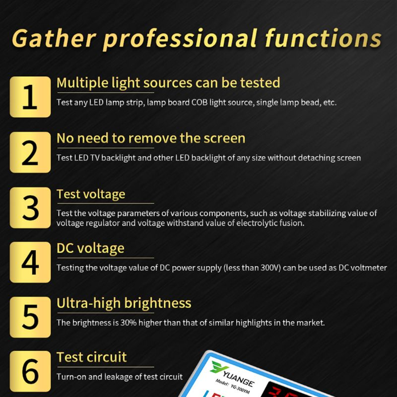 Yuange LED LCD TV Backlight Tester 4