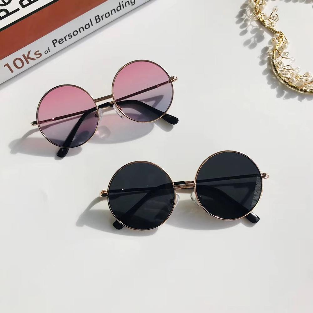 Moda occhiali da sole rotondi retrò donna occhiali da sole lenti in lega occhiali da sole per bambini occhiali da vista per donna occhiali da vista Driver accessori per auto 1