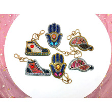 5/6PCS  Handmade Keychain DIY Diamond Painting Key Chain Key Ring Car Bag Pendant Decoration Girl Kids Gifts Art Crafts Creative mix wings key chain charms for diy handmade gifts keychain flying wing jewelry