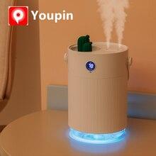 Youpin Sothing 1L humidificateur dair LCD numérique détecter lhumidité ultra sonique brume fraîche arôme diffuseur avec coloré lumière LED Cactus
