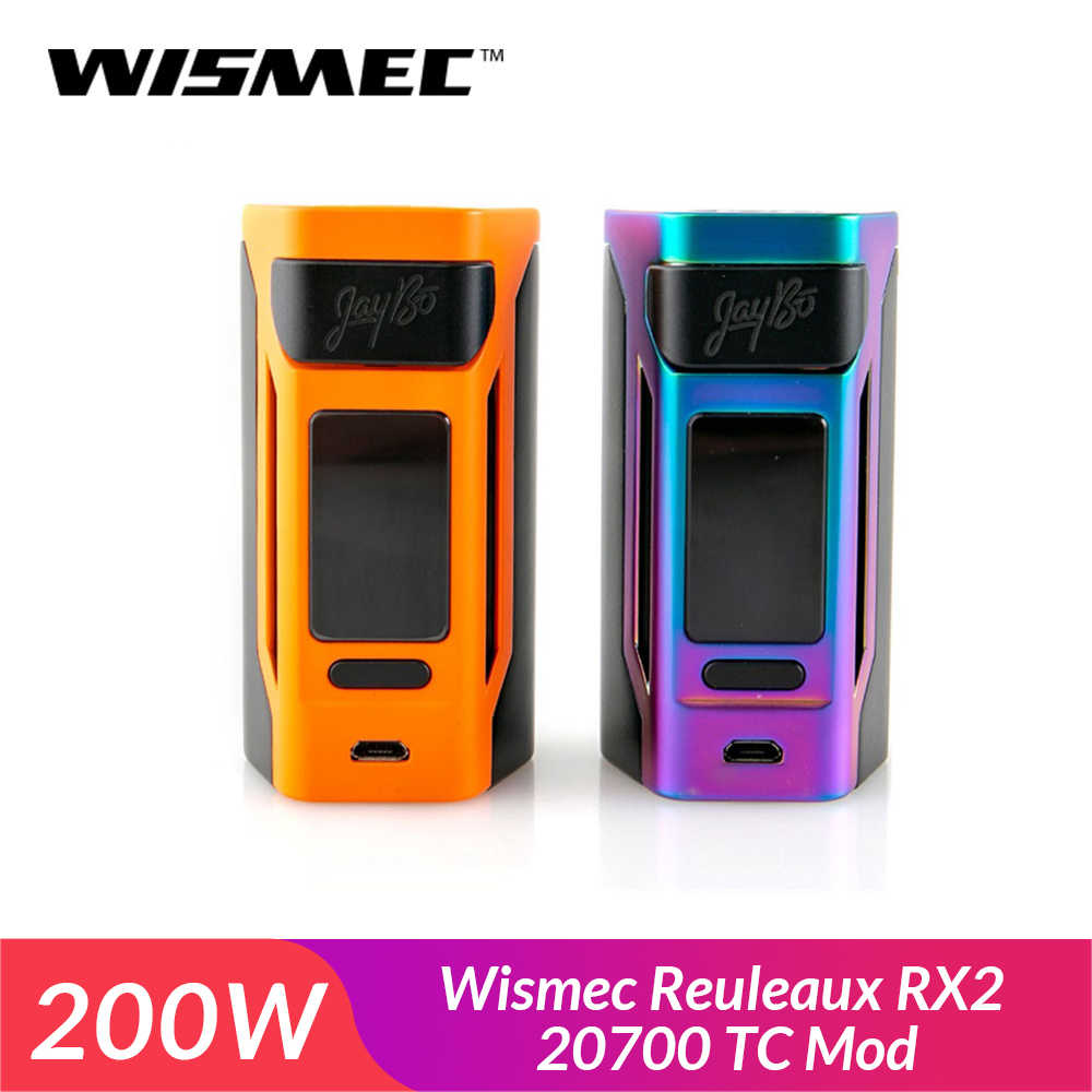 RU IN stock! Original Wismec Reuleaux RX2 20700 TC Box Mod compatible with both 20700 and 18650 Battery VW/TC-Ni/TC-Ti/TCSS/TCR