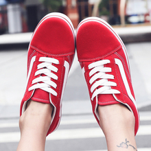 New Big Size Women's Canvas Shoes Round Head Flats
