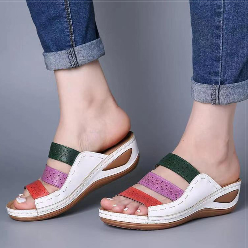 Women Sandals 2020 Summer Sandals With Heels Women Wedges Shoes Plus Size 43 Platform Sandals Shoes Woman Casual Chaussure Femme