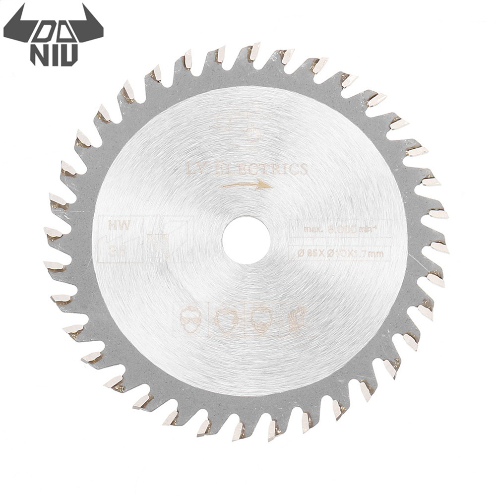 DANIU 85mm Saw Blade 36 Teeth Circular Cutting Disc 10mm Bore 1.7mm Thickness Woodworking