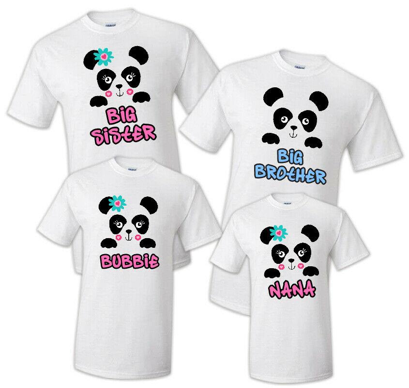 familia combinando panda festa de aniversario camiseta 04
